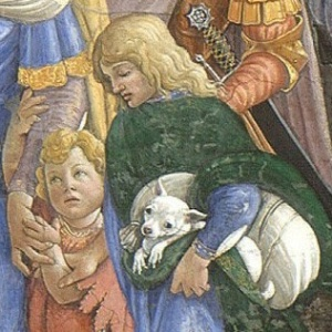 Botticelli_Trials_of_Moses,_detail_boy_with_dog